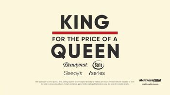 Mattress Firm Labor Day Sale TV Spot, 'King for the Price of a Queen'
