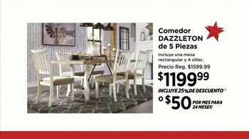 Ashley HomeStore Ofertas para el Día de la Independencia TV Spot, 'Comedor' [Spanish] - Thumbnail 5
