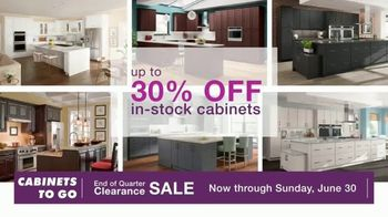Cabinets To Go End of Quarter Clearance Sale TV Spot, 'Why CTG'
