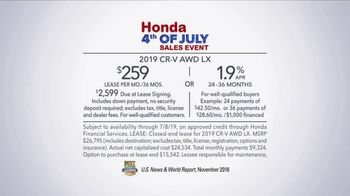 Honda 4th of July Sales Event TV Spot, 'CR-V: Unexpected Bumps' [T2] - Thumbnail 8
