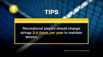 Tennis Industry Association TV Spot, 'Tips: Restring Racquet' Feat. Caroline Wozniacki - Thumbnail 9