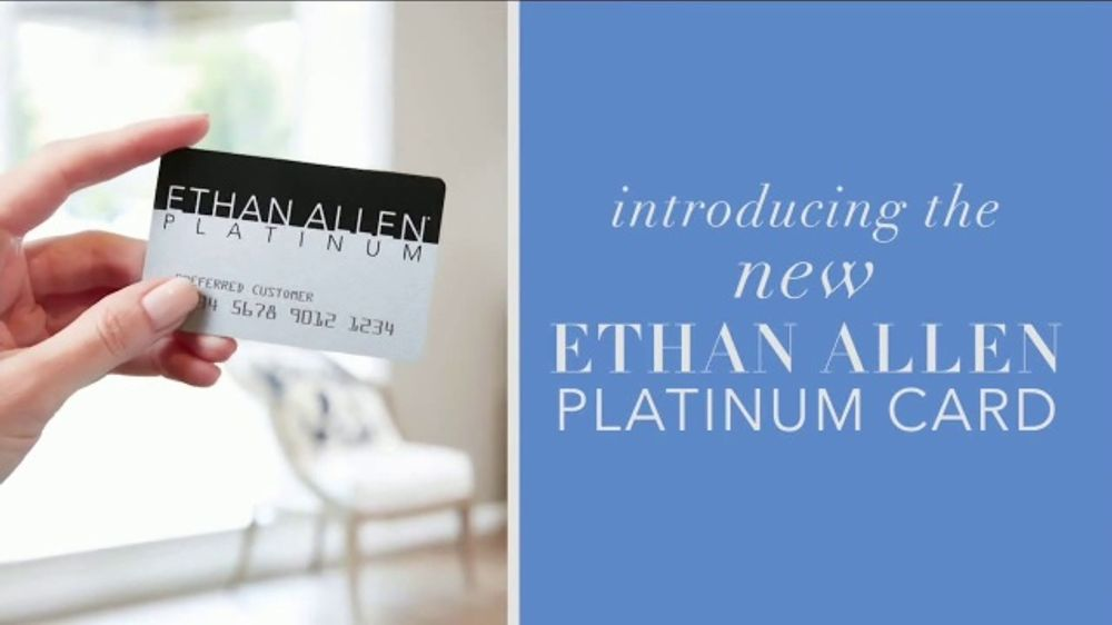Ethan Allen Platinum Card TV Commercial, 'Living Room, Dining Room and Bedroom'