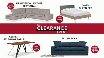 Scandinavian Designs Clearance Event TV Spot, 'Modern, Contemporary Furniture'