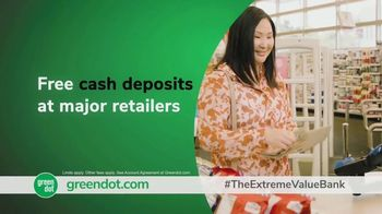 Green Dot Unlimited Cash Back Bank Account TV Spot, 'Extreme Value' - Thumbnail 5