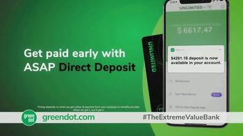 Green Dot Unlimited Cash Back Bank Account TV Spot, 'Extreme Value' - Thumbnail 6