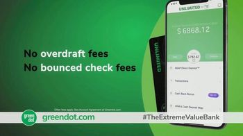Green Dot Unlimited Cash Back Bank Account TV Spot, 'Extreme Value' - Thumbnail 7