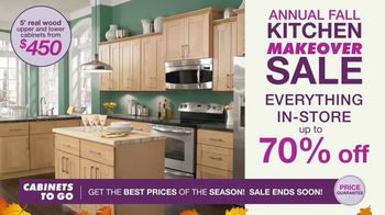 Cabinets To Go Annual Kitchen Makeover Sale TV Spot, 'Styles and Value' - Thumbnail 5
