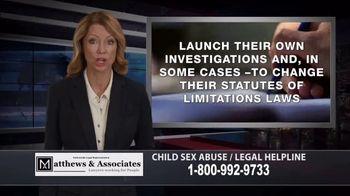 Matthews & Associates TV Spot, 'Child Sex Abuse Legal Helpline' - Thumbnail 5