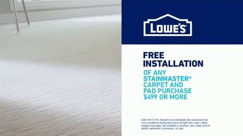 Lowe's TV Spot, 'Free Installation of Stainmaster Carpet and Pad' - Thumbnail 7