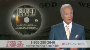 Swiss America TV Spot, 'Biblical References to Money' Featuring Pat Boone - Thumbnail 6