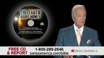 Swiss America TV Spot, 'Biblical References to Money' Featuring Pat Boone - Thumbnail 7