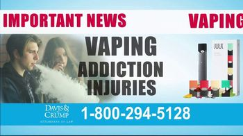 Davis & Crump, P.C. TV Spot, 'Vaping Injuries' - Thumbnail 2