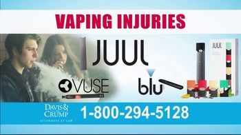 Davis & Crump, P.C. TV Spot, 'Vaping Injuries'