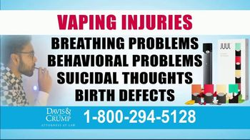 Davis & Crump, P.C. TV Spot, 'Vaping Injuries' - Thumbnail 5