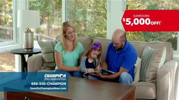 Champion Windows TV Spot, 'Sunrooms with Custom Options' - Thumbnail 5