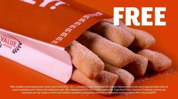 Little Caesars Pizza TV Spot, 'Free Crazy Bread'