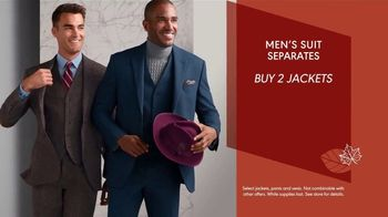 K&G Fashion Superstore Fall Fashion Event TV Spot, 'Suit Separates, Suits and Dress Shirts'