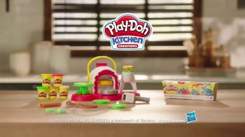 Play-Doh Kitchen Creations Stamp 'n Top Pizza TV Spot, 'Watch It Spin' - Thumbnail 7