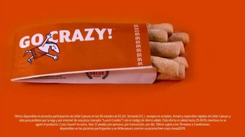Little Caesars Pizza TV Spot, 'Crazy Bread gratis' [Spanish]