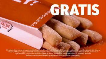Little Caesars Pizza TV Spot, 'Crazy Bread gratis' [Spanish] - Thumbnail 3
