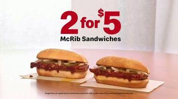 McDonald's McRib TV Spot, 'Happy McRib Season: 2 for $5' - Thumbnail 8