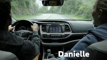 2019 Toyota Highlander TV Spot, 'Western Washington Road Trip' Feat. Danielle Demski, Ethan Erickson [T2] - Thumbnail 1