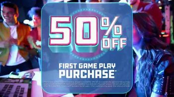 Dave and Buster's TV Spot, 'Mobile App: 50 Percent Off and Game Card'