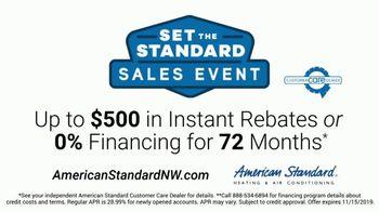 American Standard Set the Standard Sales Event TV Spot, 'Problems That Actually Matter: $500 Rebates' - Thumbnail 7
