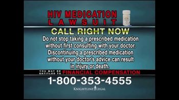 Knightline Legal TV Spot, 'HIV Medication Lawsuit' - Thumbnail 8