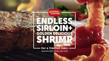 Golden Corral Endless Sirloin + Golden Delicious Shrimp TV Spot, 'Every Night'