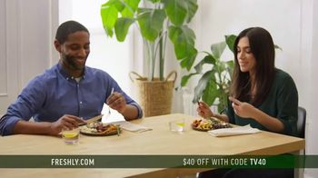 Freshly TV Spot, 'Complete Meal Delivered Weekly: $40 Off'