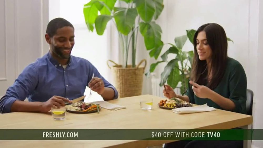 Freshly TV Commercial, 'Complete Meal Delivered Weekly: $40 Off'