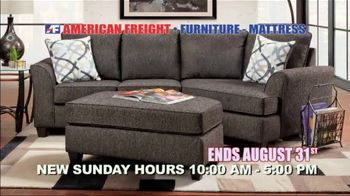 American Freight End of Summer Blowout TV Spot, 'Mattresses and Sofas'