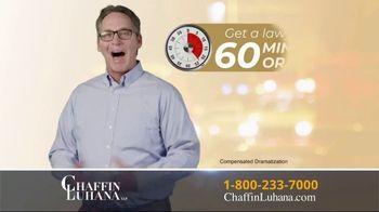 Chaffin Luhana TV Spot, '60 Minutes or Less' - Thumbnail 7