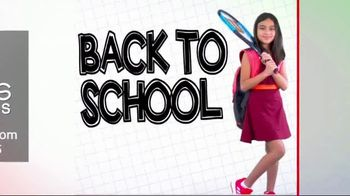 Tennis Express Back to School Sale TV Spot, 'Shoes, Apparel and Backpacks'