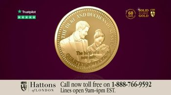Hattons of London 2019 Birth of a New Royal Heir Gold Quarter Sovereign TV Spot, 'Archie' - 14 commercial airings