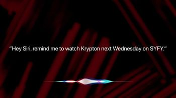 Apple iPhone Siri TV Spot, 'Syfy: Remind Me to Watch Krypton' - 2 commercial airings