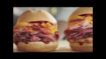 Arby's Bourbon BBQ Sandwiches TV Spot, 'Fire Alarm' - Thumbnail 7