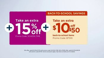 Kohl's TV Spot, 'Back to School: Backpacks, Graphic Tees & Dorm Essentials' - Thumbnail 6