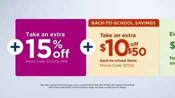 Kohl's TV Spot, 'Back to School: Backpacks, Graphic Tees & Dorm Essentials' - Thumbnail 7