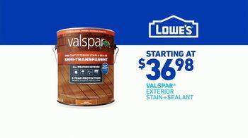 Lowe's TV Spot, 'Do It Right: Valspar Exterior Stain + Sealant' - Thumbnail 8