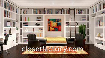 Closet Factory TV Spot, 'Full Home Organization' - Thumbnail 1