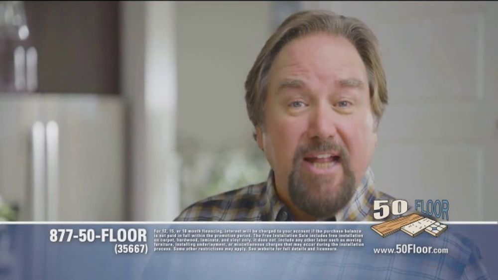 50 Floor TV Commercial, 'Tired Floors: Extra $100 Off' Featuring Richard Karn