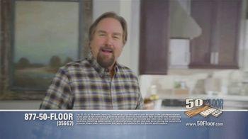 50 Floor TV Spot, 'Tired Floors: Extra $100 Off' Featuring Richard Karn - Thumbnail 1