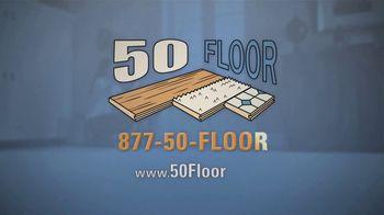 50 Floor TV Spot, 'Tired Floors: Extra $100 Off' Featuring Richard Karn - Thumbnail 9