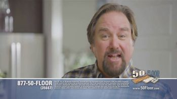 50 Floor TV Spot, 'Tired Floors: Extra $100 Off' Featuring Richard Karn