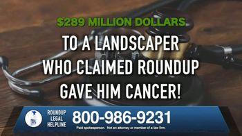 Roundup Legal Helpline TV Spot, 'Landscapers and Non-Hodgkin's Lymphoma'