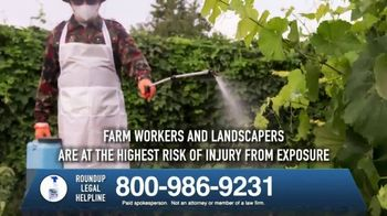 Roundup Legal Helpline TV Spot, 'Landscapers and Non-Hodgkin's Lymphoma' - Thumbnail 5