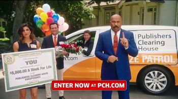 Publishers Clearing House TV Spot, '$5,000 a Week for Life: Question' Featuring Steve Harvey - 138 commercial airings