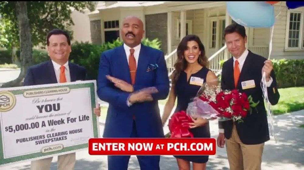 my publisher clearing house account publishers clearing house tv commercial 5 000 a week 7988